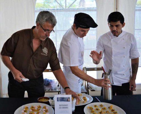 Pere Miquel Carreras i el seu equip van participar també al concurs de musclos que s'inclou a les jornades gastronòmiques La Clova 2017 Tastets de Mar.