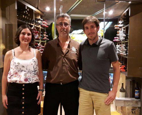 A Les Corones hem rebut la visita del fill d'en Pedro, el propietari del restaurant Astillero, de Getaria.