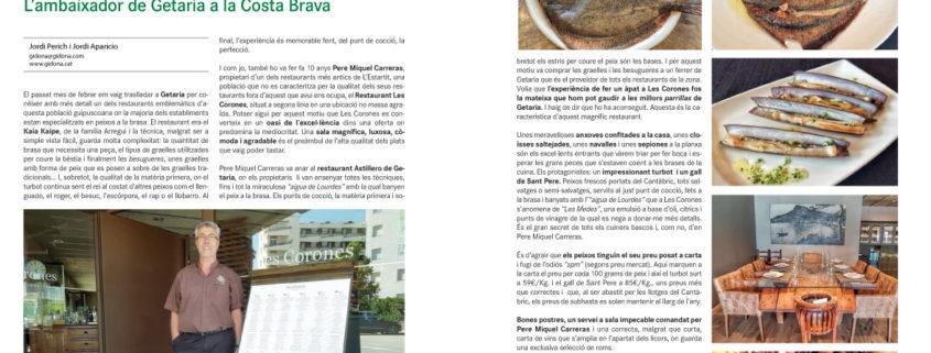 Reportatge de Gidona sobre el peix a la brasa del Restaurant Les Corones