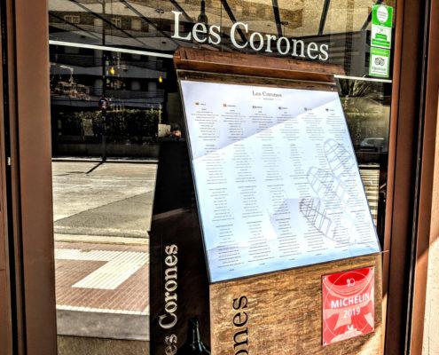 Restaurant Les Corones és l'únic establiment de Torroella de Montgrí i l'Estartit recomanat a la Guia Michelin.